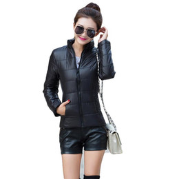 wholesale zippers yard NZ - Wholesale- Winter Autumn jacket women stand collar long-sleeve short paragraph thin and light jacket female coat big yards women