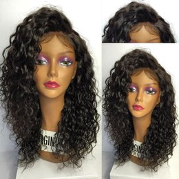 water waves human hair Australia - Water Wave Full Lace Wigs Lace Front Wigs Baby Hair 100% Brazilian Unprocessed Virgin Human Hair Wig For Black Women