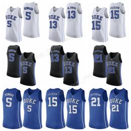 6998f8dc4b3 ... tyus jones made me so low price duke blue devils 5 luke kennard college  jerseys men basketball 15 frank jackson 21 ...