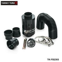 Tansky-Alta Qualidade KRICNG Kit de Indução de Alimentação Fria Caixa De Filtro De Ar De Fibra De Carbono com ventilador TK-FB2303 em Promoção