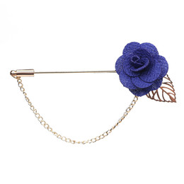 $enCountryForm.capitalKeyWord UK - Wholesale- Trendy Handmade Flower Brooch Lapel Pins for Women Men Suit Boutonniere Button Stick Brooches Wedding Party Jewelry 3651