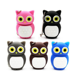 pens birds NZ - Carton Pendrive Owl USB Flash Drive pen drive pendrive 4GB 8GB 16GB 32GB 64GB cartoon bird memory stick USB 2.0 U disk For School Offer