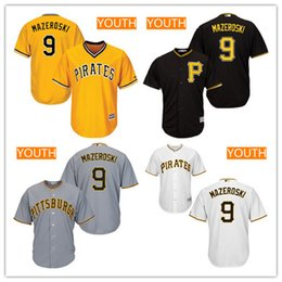 d8434a469 ... top quality Youth Pittsburgh Pirates 9 Bill Mazeroski Black Alternate  Stitched MLB Majestic Cool Base Jersey ...