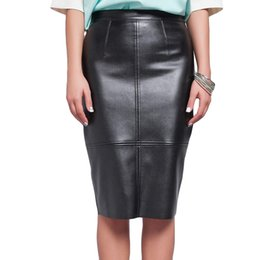 16dba95f6 Ladies PU Leather Pencil Midi Skirts 2017 Fashion Summer Autumn Plus Size  Women High Waist Skirt Faux Leather Saia Faldas Largas