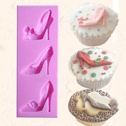 Heel Cakes Canada - High Heel Shoes Silicone Fondant Mould Cake Decorating Chocolate Baking Mold DIY kitchen FM1100