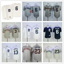 62dea6f3 ... Mens Detroit Tigers 1968 Al Kaline Jersey Alan Trammell Willie Horton  Denny McLain Lance PARRISH Kirk Mitchell And Ness ...