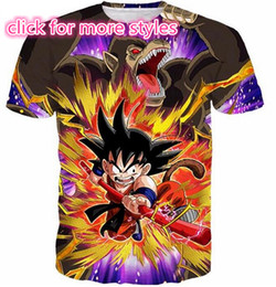 Kids S T Shirts En Gros Pas Cher-Nouveau Mode Couples Hommes Femmes Dragon Ball Z Kid Goku 3D Impression No Cap Casual T-shirts Tee Tops En Gros S-5XL T22