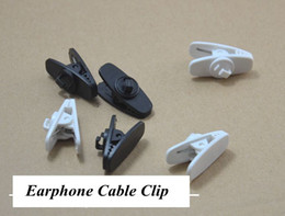 phone cord holder Canada - big Headphone Earphones Cell Phone Cable Cord Wire Clip Nip Clamp Holder black white 2 color