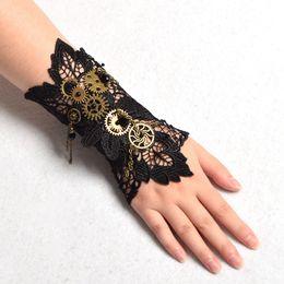 Ingrosso 1pc delle donne dell'annata Steampunk Gear polso polsino del braccialetto del Armbrand industriale vittoriana costume cosplay di accessori di alta qualità