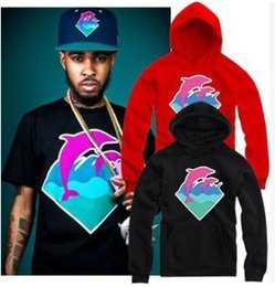 Barato Hoodie Cor-de-rosa De 4xl Do Golfinho-Hip Hop Homens e mulheres Pink Dolphin Hoodies Hedge Thick Cotton Hoody Pink Dolphin Men Sweatshirts Mens Pullover Tops