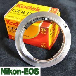 Großhandel New Lens Adapter AF Bestätigen Sie für Nikon AI Objektiv zu Canon EOS EF Mount Adapter mit elektronischen 7D 60D 600D 5D II Kamerazubehör Auf Lager