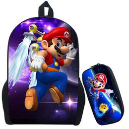 Discount super mario school bags - Wholesale- Super Mario 2 Printing Backpack Children Cartoon Sonic Backpacks Boys Girls School Bags For Kindergarten Dail