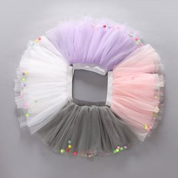 Chinese  Wholesale New Summer Colored balls Cute Star Summer Kids Girl Tutu Skirts Lace Children Baby Tutu Skirt Princess 5 color choose manufacturers