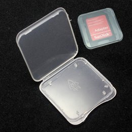 $enCountryForm.capitalKeyWord Australia - SD Card Plastic Case box Transparent Standard Memory Card Holder MS white box Storage Case for SD card