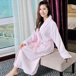 Cotton bathrobes women nightgown men nightdress women girls blanket towel fleece  robe thickening lovers long soft robe plus size winter f3580e41a