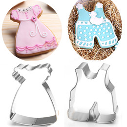 $enCountryForm.capitalKeyWord NZ - baby flower dress cookie cutter pants Patisserie gateau cupcake pastry tools metal biscuit mold fondant cake decorating tool