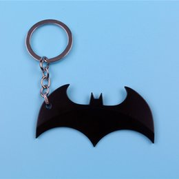 $enCountryForm.capitalKeyWord UK - Metal Keychains Batman Key Chains comic superhero pendant accessories Key Ring