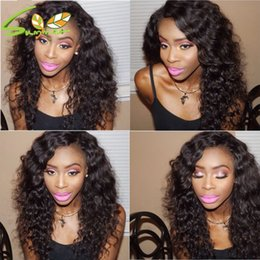 Deep Curly Indian Lace Wig Australia - Thick density curly Lace Front Wig Virgin Mongolian Full Lace Wigs deep Curly Human Hair Wigs For Black Women