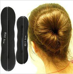Foam bun accessory online shopping - 800Pcs Magic hair clip Sponge Foam Bun Clip Maker Former Foam Twist Hair styling accessory bun maker Twist Tool Hair Band