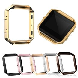 Cover For Smart Watch Australia - For Fitbit Blaze Accessory Watch List Box Watchcase Frame Holder Case Cover Metal Band For Fitbit Blaze Smart Watch 4 color