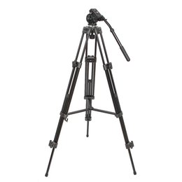 Professional Camcorder Tripods UK - WF-717 Professional Heavy Duty Video Camcorder Tripod with Fluid Head For Video DSLR Camera Camcorder