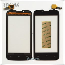 Wholesale Syrinx Tape Mobile Phone Front Glass Panel Lens Touch Screen Digitizer For Fly IQ4407 ERA Nano Touch Panel Sensor Touchscreen