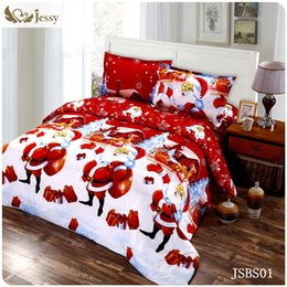 Discount 3d christmas bedding - Wholesale-3D merry Christmas bedding 4pcs queen nice beauty fairness cosiness duvet set comfortable twin.queen.king