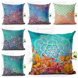 ethnic cushions covers Australia - color blue decorative pillows case for sofa bed bohemian style flower cojines decorativos ethnic cushion cover exotic cojin