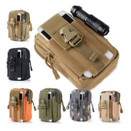 $enCountryForm.capitalKeyWord Canada - Outdoor Sports Tactical Bags Pockets Waist Bag 5.5 Inches Waterproof Mobile Phone Package Hanging Running Bag molle pouches