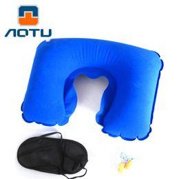 $enCountryForm.capitalKeyWord NZ - AOTU 3 in1 Travel Set Inflatable Neck Air Cushion Pillow + eye mask + 2 Ear Plug Comfortable trip 161