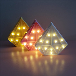 $enCountryForm.capitalKeyWord NZ - LED Night Light Diamond Sign Letter Light Novelty Indoor Lighting Marquee Lamp With 12LED Battery Operated Baby Nightlight For Home Decor