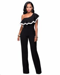 e7e265310d 2017 Fashion Sexy Rompers Womens Elegante Jumpsuit Black Off The Shoulder One  Piece Bodysuits Summer Slim Casual Overalls