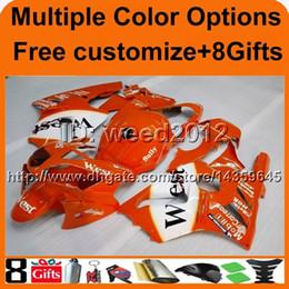 $enCountryForm.capitalKeyWord Canada - 8Gifts+Tank cover orange white WEST cowling ZX12R 2002 2003 2004 motorcycle fairing for Kawasaki Ninja