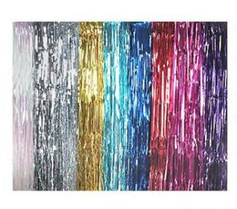 $enCountryForm.capitalKeyWord Canada - Wall Decoration Tassel Curtain For Wedding Party Decorations 1m*3m Ribbon Tassel Curtain Party Decoration Hot Sale 6 Color