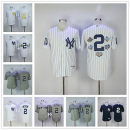 ... New York Yankees 2Derek Jeter Jersey with Captain Patch White Pinstripe  Grey Home Away . 74c41806f91