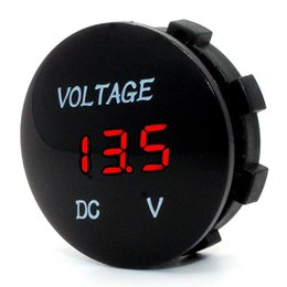China Waterproof LED Digital Display Voltmeter 12-24V DC for Car Motorcycle Boat Marine Truck Rv ATV- Red Green Blue LED Display suppliers