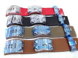 $enCountryForm.capitalKeyWord UK - 2018 Cheap wholesale H plain leather four nails rivets leather bracelets exaggerated punk wide face Bracelets