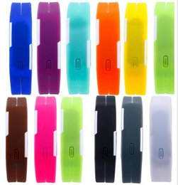 $enCountryForm.capitalKeyWord Canada - Fast Colorful Waterproof Soft Led Touch Watch Jelly Candy Silicone Rubber Digital Screen Bracelet Watches Men Women Unisex Sports Wristwatch