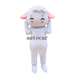 Wholesale sheep costume online – ideas cute White Sheep Mascot costumes fancy dress Real photo