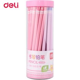 Discount simple drawings - Deli 50 Pcs Set Standard Pencil 2017 new set of pencils 2B Office & School supplies cute simple design pencils for drawi
