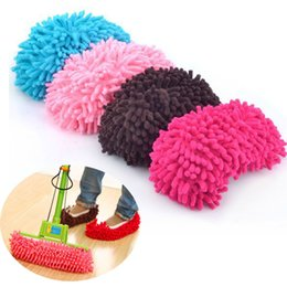 Barato Meias Preguiçosas-Multifuncionais Mop Slippers Quick House Cleaner Lazy Floor Polimento Dusting Limpeza Foot Socks Shoe Cover Housekeeper amantes sapatos 2Pcs