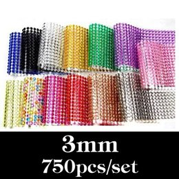 Car Sticker Designs Graphics Australia - Wholesale- 3MM 750Pcs set Car Auto Interior Computer Exterior Sticker Bling Crystal Design Rhinestone Self Adhesive Scrapbooking Stickers