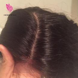 İnsan Saç Tam 150 Yoğunluk İpek Üst Peruk Bakire Brezilyalı İpek Bankası Dantel Peruk İnsan Saç Bebek Saç ağartılmış Knots dantel