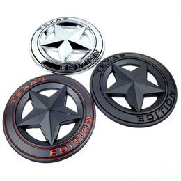 Metal Hollow Body Canada - WING CHUN Metal Zinc TEXAS EDITION Hollow Out Star Badge Sticker Body Decoration For JEEP Wrangler Liberty Grand Cherokee emblem