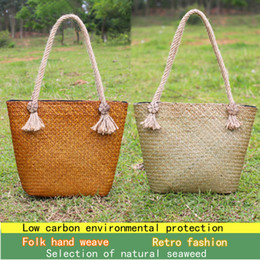 $enCountryForm.capitalKeyWord Canada - Summer hand-woven rattan table beach package Japanese straw bag Korean version of the forest package art retro cool dress shoulder bag