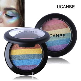sleek face palette Canada - Brand Rainbow Highlighter Eyeshadow Mineral Sleek Powder 3D Face Makeup Naked Smoky Eye Shadow Bronzer Blush Contour Palette