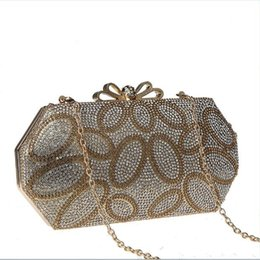 diamante crystal clutch evening bag NZ - 1pc 2017 new arrival wholesale unique Diamante Diamond Crystal Evening bag Clutch Purse Party Prom Wedding shoulder handbag wallet