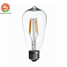 super bright dimmable e27 st64 edison style vintage retro cob led filament light bulb lamp warm white 85265v retro led filament bulb