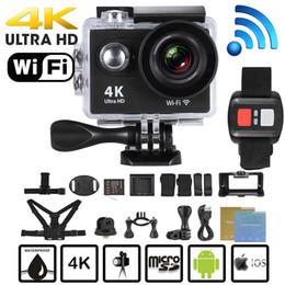 Discount 32 microsd - Action camera Original H9   H9R remote Ultra FHD 4K WiFi 1080P 60fps 2.0 LCD 170D sport go waterproof pro camera deporti