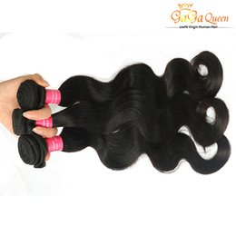 Discount tangle free hair extensions - Wholesale 7A Brazilian Hair Bundles Double Weft Unprocessed Human Hair Extensions Dyeable Hair Weaves Body Wave Wavy Fre